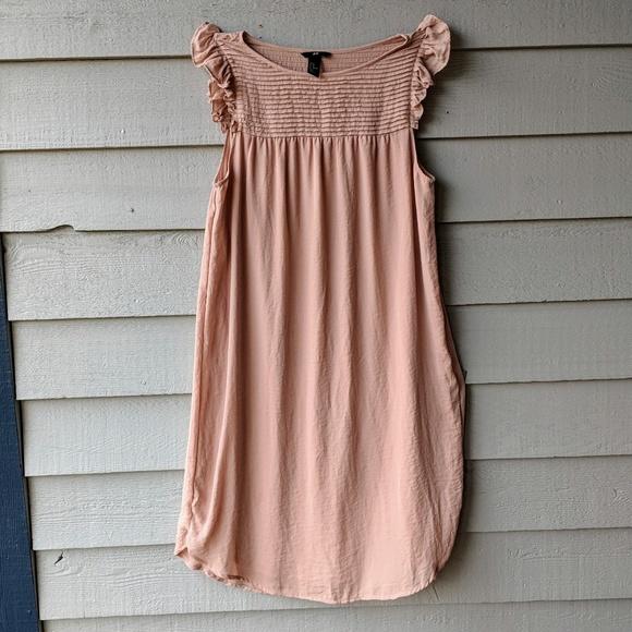 e90321f27459c H&M Dresses   Dusty Pink Ruffled Babydoll Dress   Poshmark